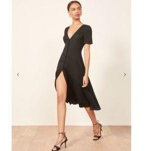 NWT Reformation Black Locklin Dress with Tags